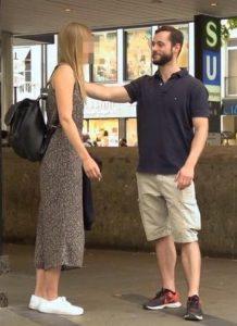 Flirten berühren