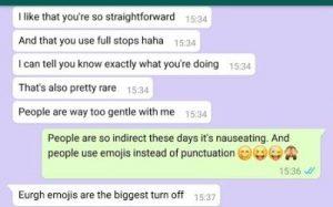 Schwarm mit gesprächsthemen whatsapp Online partnersuche